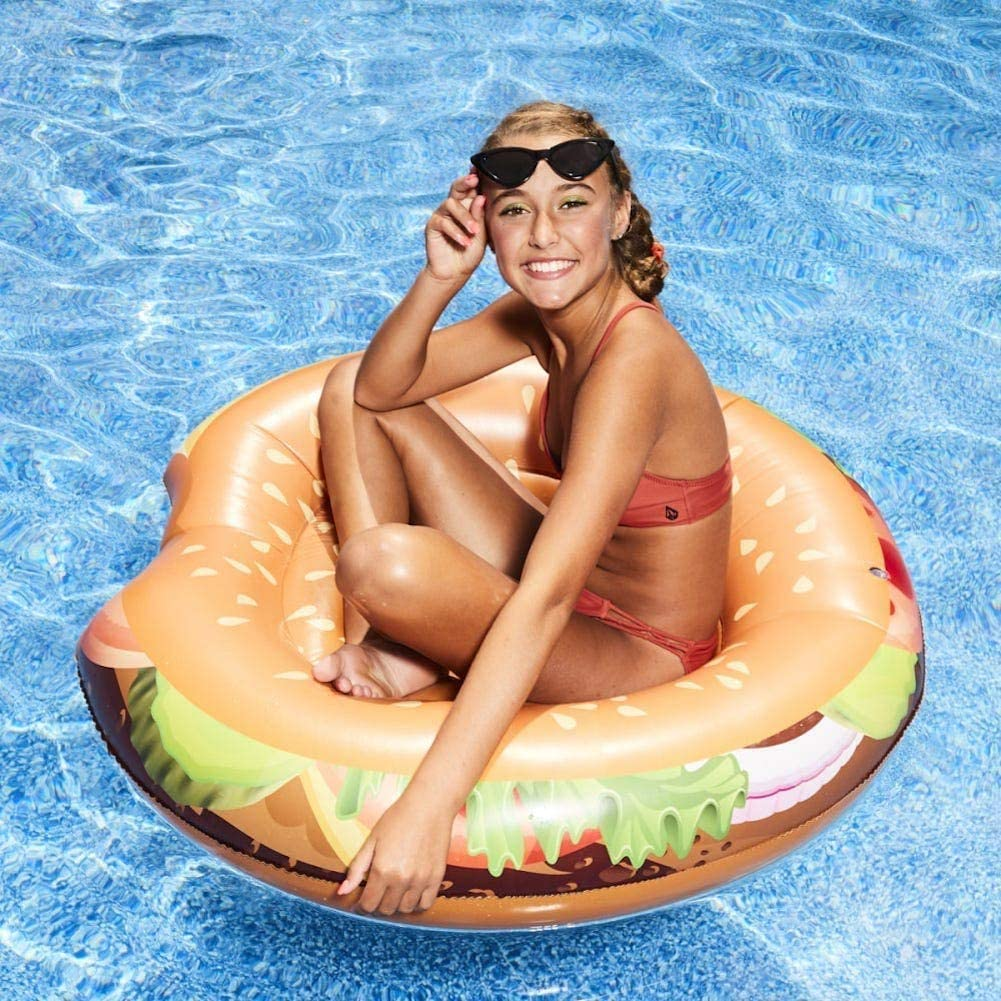 High Five Hamburger and Hot Dog Pool Float Set of 2