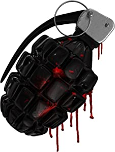 Bargain Max Decals Grenade Dripping Red Blood Paint Window Laptop Car Sticker 5.5""