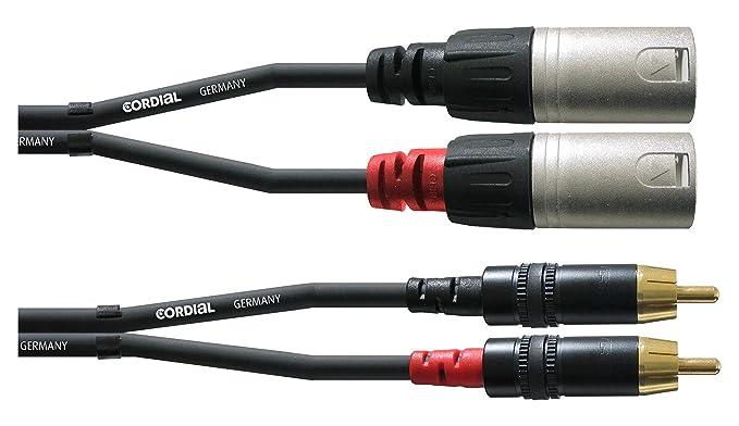 INTRO CFU 3 MC Cinch/RCA-Kabel, 3m schwarz