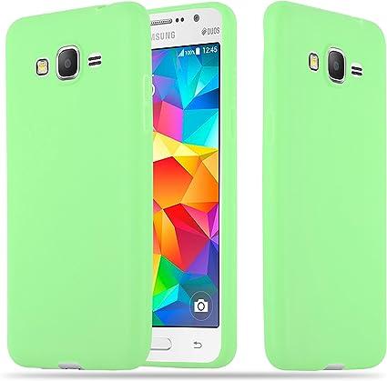 Cadorabo Coque pour Samsung Galaxy Grand Prime en Candy Vert Pastel - Housse Protection Souple en Silicone TPU avec Anti-Choc et Anti-Rayures - Ultra ...
