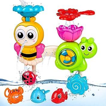Toyvian 5 Pezzi Bagnetto Giocattolo Bagnetto Schizzo Giocattoli Bagno Auto Nuoto Giochi Pista Galleggiante per Vasca Doccia in Plastica Giocattolo per Bambini Bambini Bambino