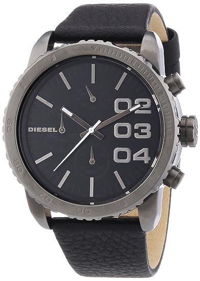 Diesel DZ5329 - Reloj analógico de cuarzo para mujer con correa de piel, color negro: Amazon.es: Relojes