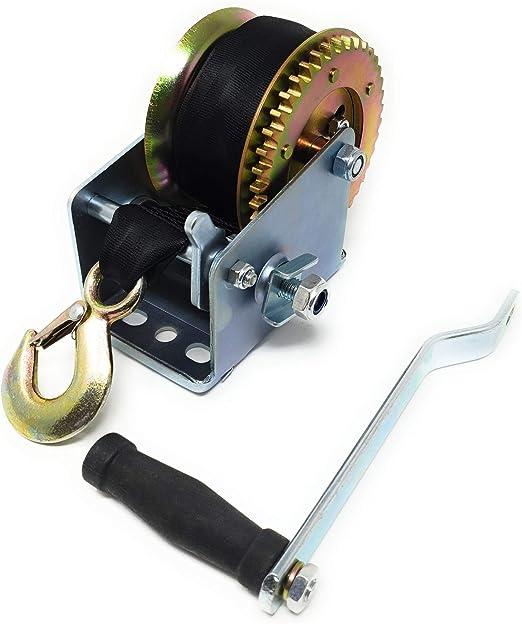Dwt Germany 101246 6 M 900 Kg Gurt Winde Handseilwinde Ratschen Mechanismus Seilwinde Hand Winde Seilrolle Baumarkt