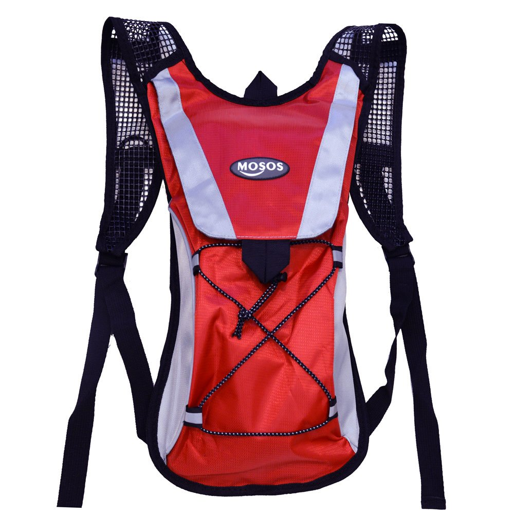 24f4ba0b38 Amazon.com : MOSOS Cycling Hydration Pack Water Backpack Hiking Climbing  Pouch with 2L Hydration Bladder Red : Sports & Outdoors