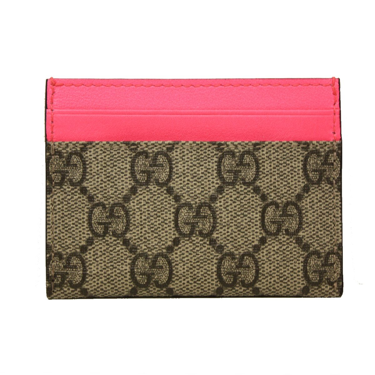 e30930ea9b518c Gucci GG Logo Neon Pink Star Business Card Case 261426 KH41G at Amazon  Women's Clothing store: