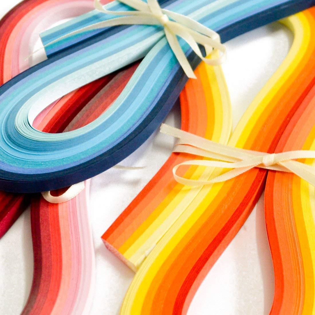 bande Largeur de papier 3mm Juya Paper Quilling Set 720 Strips 36 Couleurs 54cm Longueur