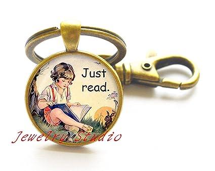 Encantador llavero de moda, solo lee el llavero. Llavero de ...