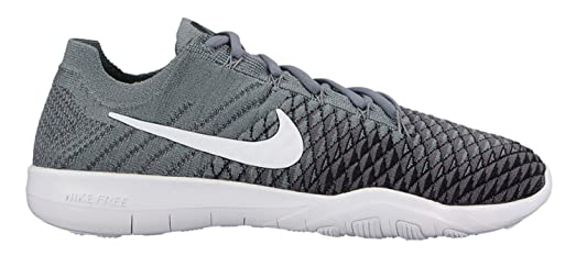Nike Free TR Flyknit 2 SZ 7.5 Womens Cross Training Cool Grey/White-Black