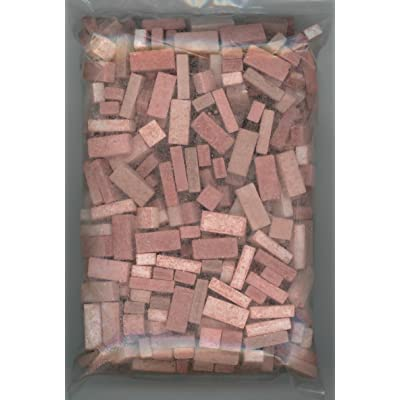 Andi Mini Brick & Stone Dollhouse Miniature Used Red Brick Blend 325 Count: Toys & Games