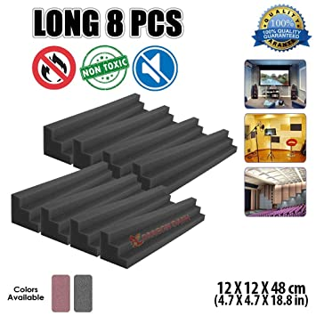 Super Dash 8 Piezas 12 x 12 x 48 cm Negro Columna de Columna Trampa de Bajos Espuma ...