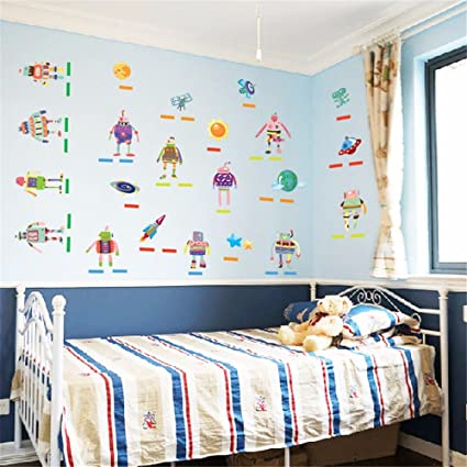 Amazon.com: Bomeautify Murals Wall Stickers Removable Paper Baby ...