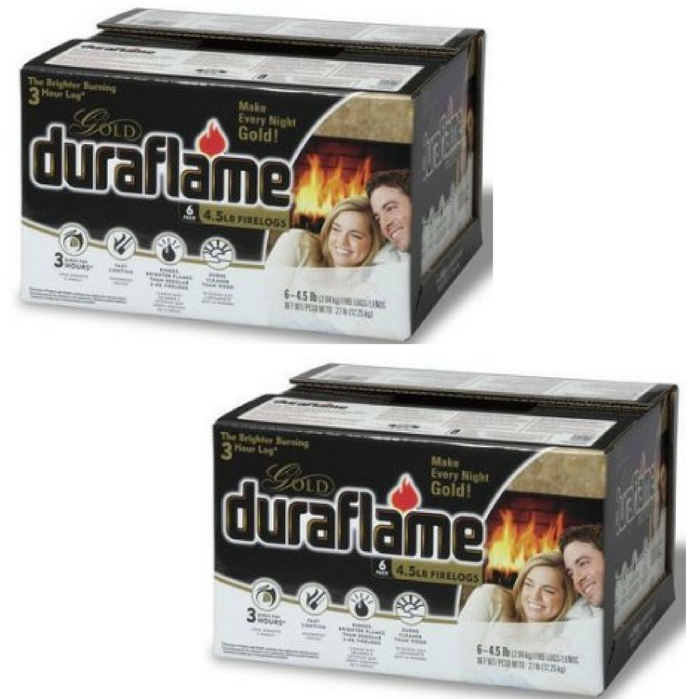 Duraflame 4577 Ultra-Premium Firelogs, 4.5-Pound, (12 Pack) by Duraflame