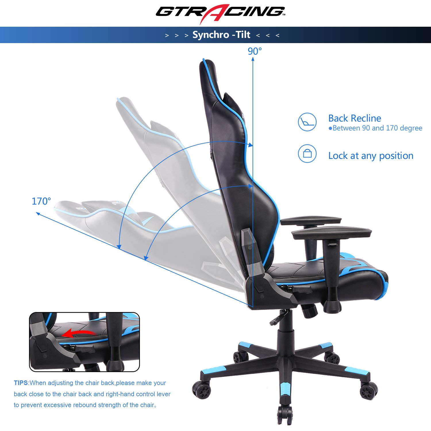 Amazon GTracing Gaming Chair Racing Chair Backrest And Height