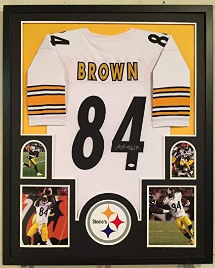 e6fcb0772 Image Unavailable. Image not available for. Color  Framed Antonio Brown  Autographed Signed Pittsburgh Steelers Jersey - JSA Authentic
