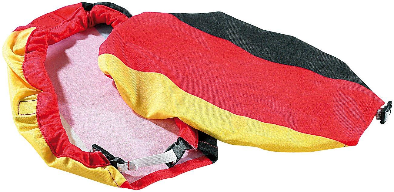 infactory EM-Fan-Artikel: 2er-Set Ü berzieher Deutschland fü r Auto-Auß enspiegel (Deutschland Fan Artikel)