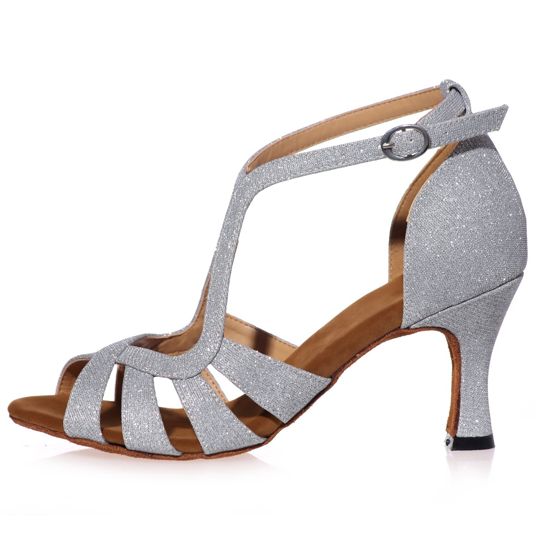 Elobaby Zapatos De Danse Pour Mujer Moderne SoiréE Latin Latin Latin Peep Toe Talon Standard Satin /7.5cm Talon / A8349 7e286a