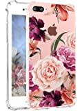 iPhone 7 Plus 手机壳 Hepix Clear iPhone 8 Plus 软弹性 TPU 水彩花朵印花后盖 iPhone 7 Plus iPhone 8 Plus [5.5 英寸]K1014CC19-i7P-C C