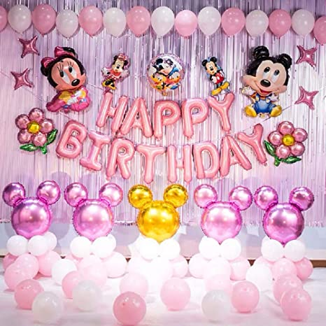 Amazon.com: Minnie Theme Mouse Decoración de fiesta de ...