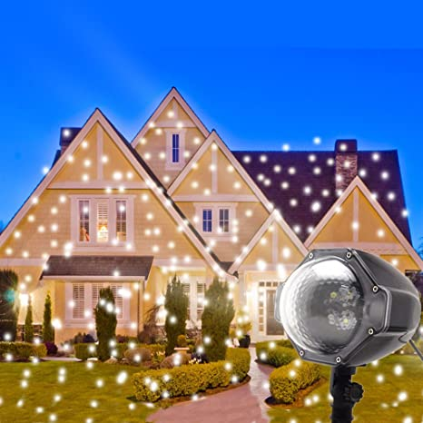 led snowflake projector lights christmas projector outdoor snowfall led lights indoor outdoor christmas snowflake decorations holiday - Led Christmas Projector