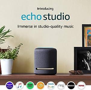 Echo Studio - Smart speaker with high-fidelity audio and Alexa