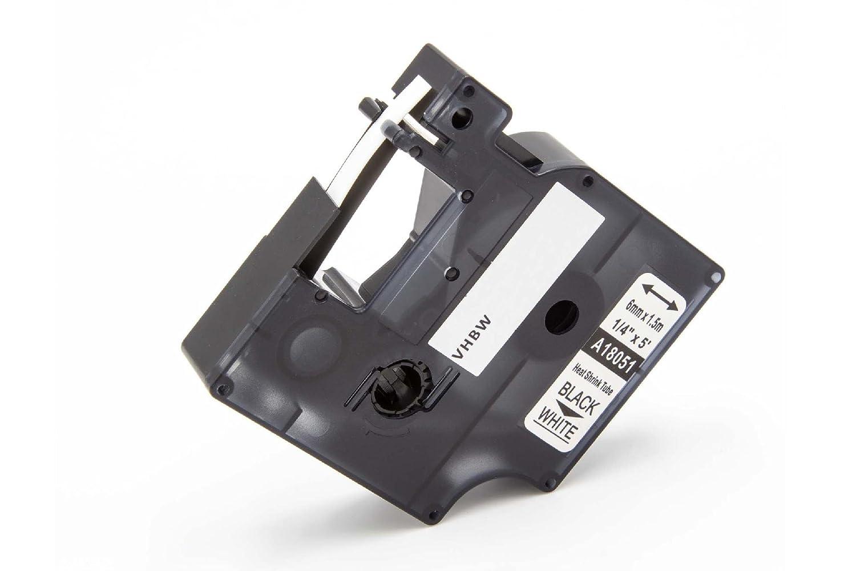 vhbw Cassetta Nastro Tubo Termorestringente 6mm per Stampante Dymo Rhino 4200 6000 5200 ILP 219 come Dymo 18051.