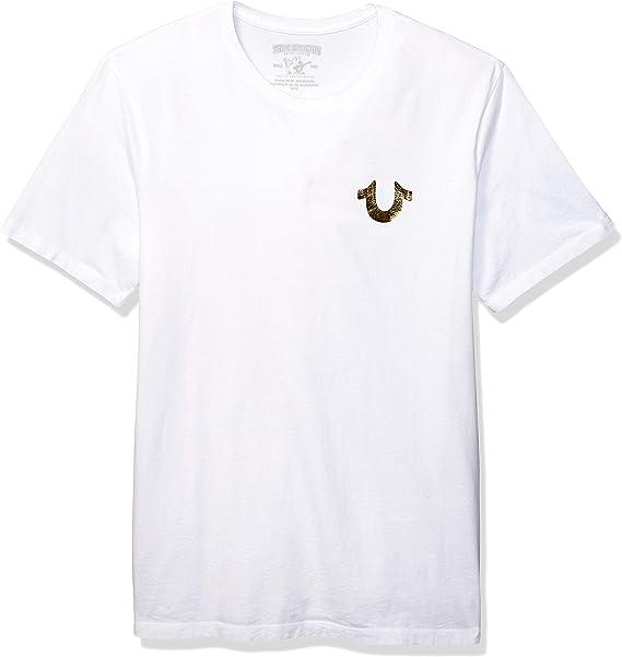 True Religion Camiseta Buda de Oro Blanca: Amazon.es: Ropa y accesorios