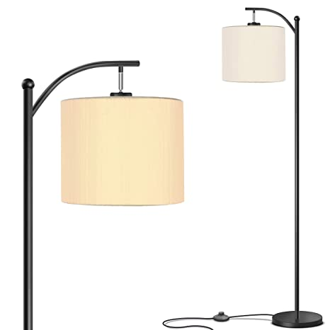 Addlon Floor Lamp for Living Room with Lamp Shade and 9W LED Bulb - Modern  Standing Lamp - Floor Lamps for Bedrooms