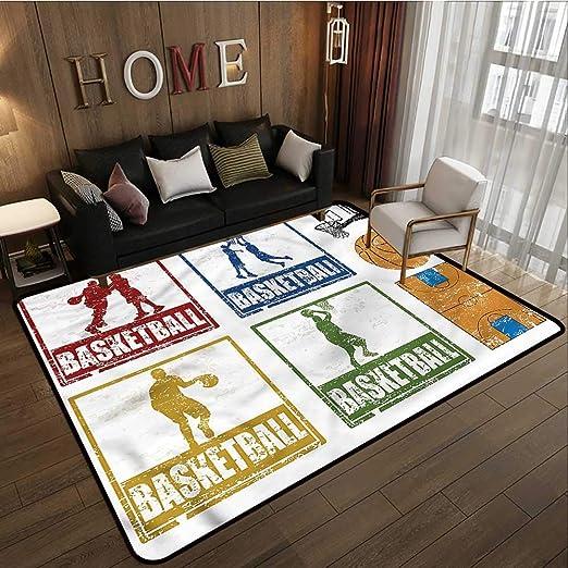 Amazon.com: Alfombra para salón de clases, baloncesto ...