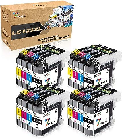 7Magic Cartucho de tinta compatible para Brother LC123XL para ...
