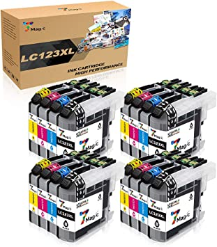 7Magic Cartucho de Tinta Compatible para Brother LC123XL para DCP ...