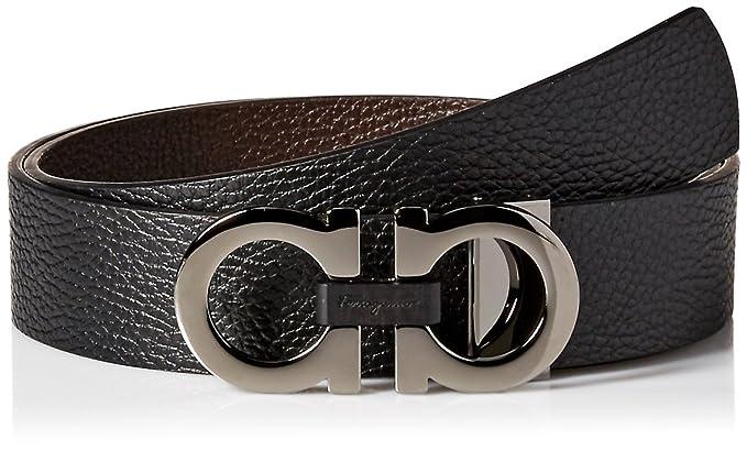 fd3510527314d Amazon.com  Salvatore Ferragamo Men s Double Gancini Reversible Belt   Clothing