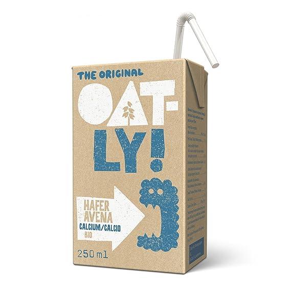 Oatly - Bebida de Avena Calcio Biológica - Pack de 18 (18 x 250 mililitros