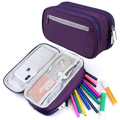 6401b5e3ca Astuccio, grande capacità matita casi penna borsa matita sacchetto con  grandi scomparti per ragazzi e