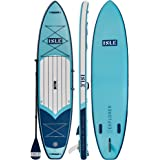 ISLE Explorer Inflatable Stand Up Paddle Board & iSUP Bundle Accessory Pack — Durable, Lightweight with Stable Wide Stance —