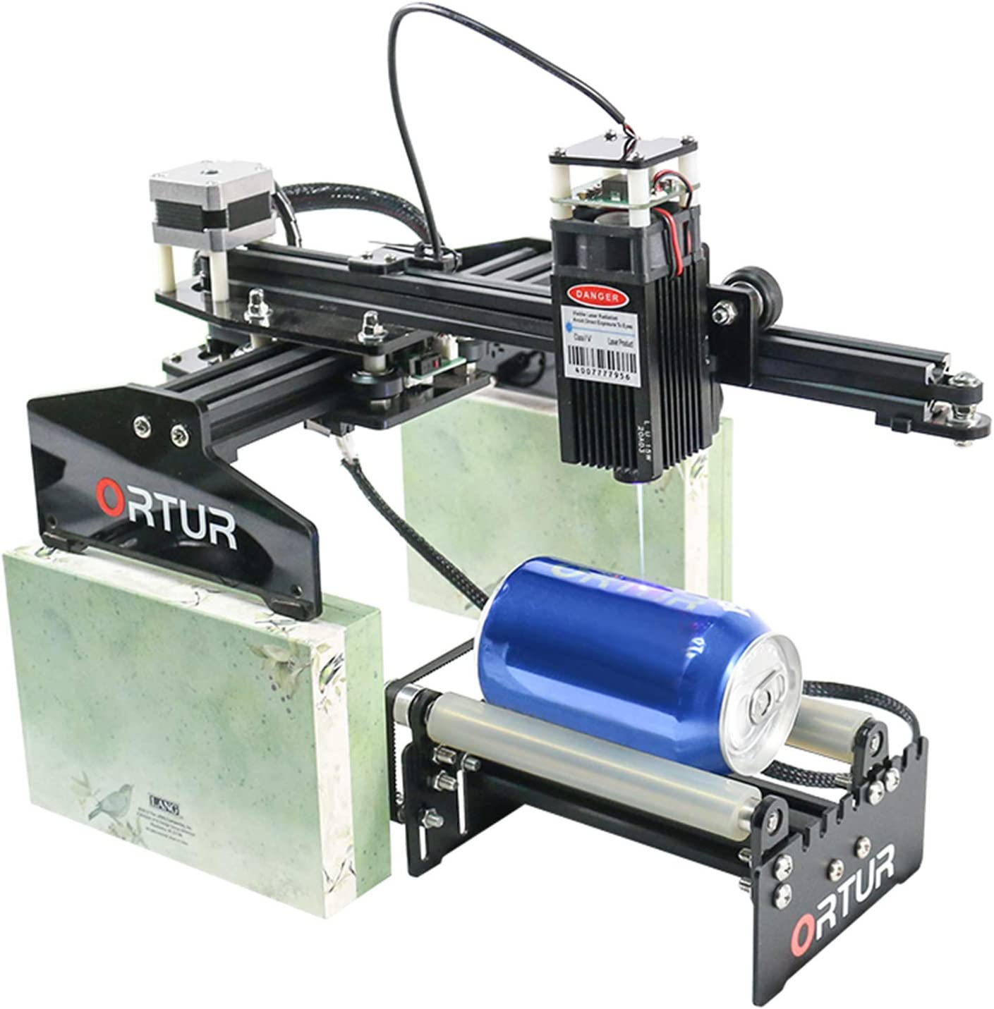 ORTUR Laser Engraver Y-axis Rotary Roller Engraving Module for Engraving Cylindrical Objects Cans