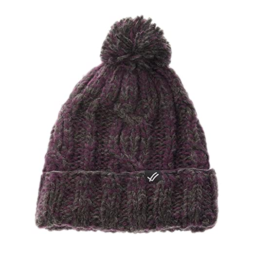 Amazon.com  William Rast Women s Cable Knit Hat O S Charcoal Wine ... 61c5fe2eb32