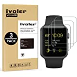 [3 Pack] Pellicola Vetro Temperato Apple Watch 38mm Series 1 / Series 2 / Series 3, iVoler ** [Protezione Antigraffi] **Anti-riflesso Ultra-Clear** Ultra resistente in Pellicola Apple Watch 38mm Series 1 2015 / Series 2 2016 / Series 3 2017, Pellicola Protettiva Protezione Protettore Glass Screen Protector per Apple Watch 38mm.Vetro con Durezza 9H, Spessore di 0,3 mm,Bordi Arrotondati da 2,5D - Garanzia a Vita