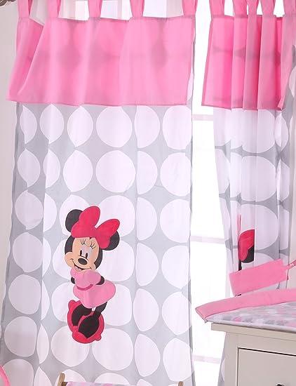 Disney Minnie Mouse Pois 2 rideaux: Amazon.fr: Bébés ...