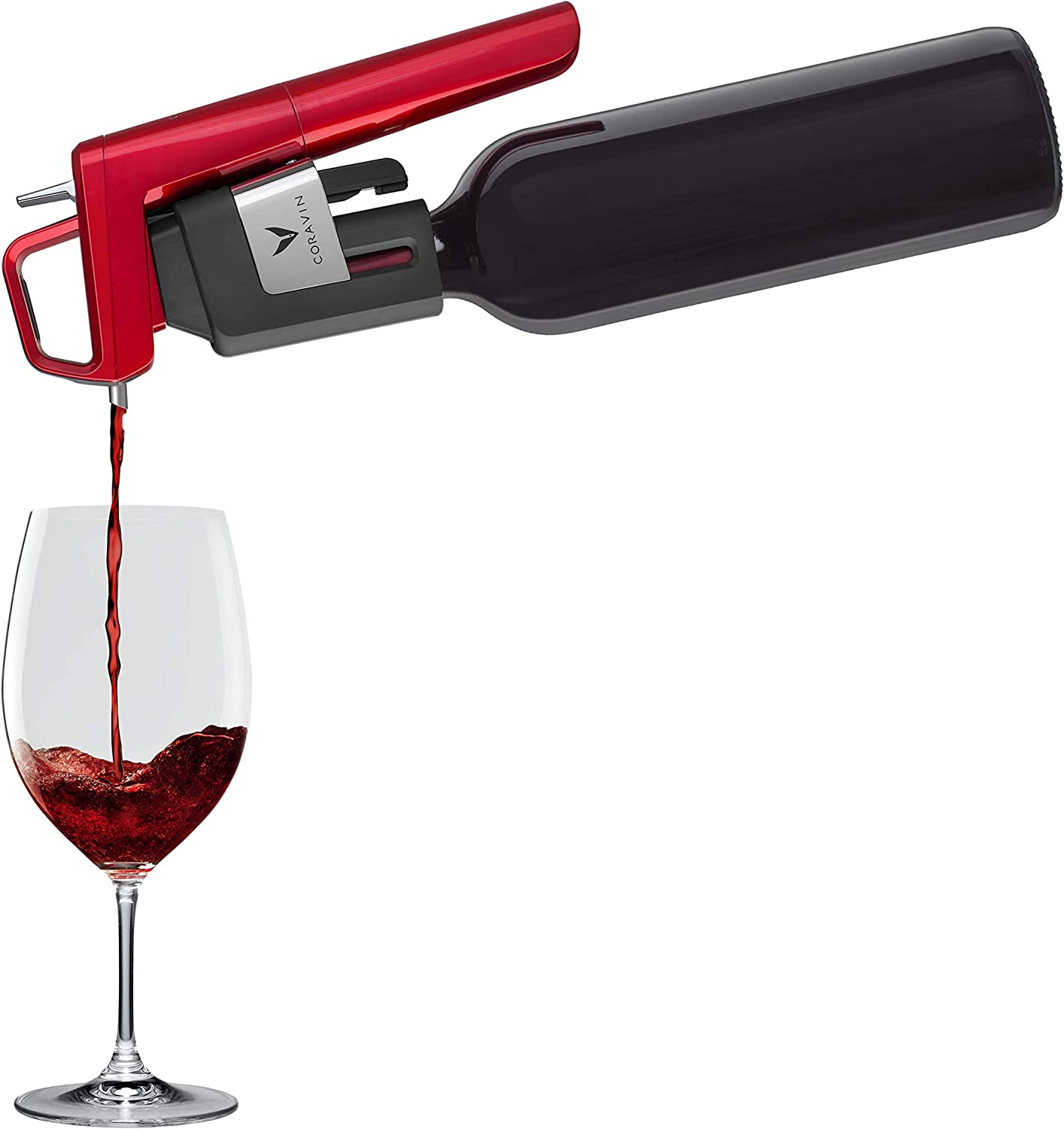 Model Six Core Wine Preservation System Silver Coravin 2 Gas Capsules and Screw Cap
