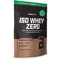 BioTechUSA Iso Whey ZERO, Lactose, Gluten, Sugar FREE, Premium Whey Protein Isolate, 1.816 kg, Caffé Latte