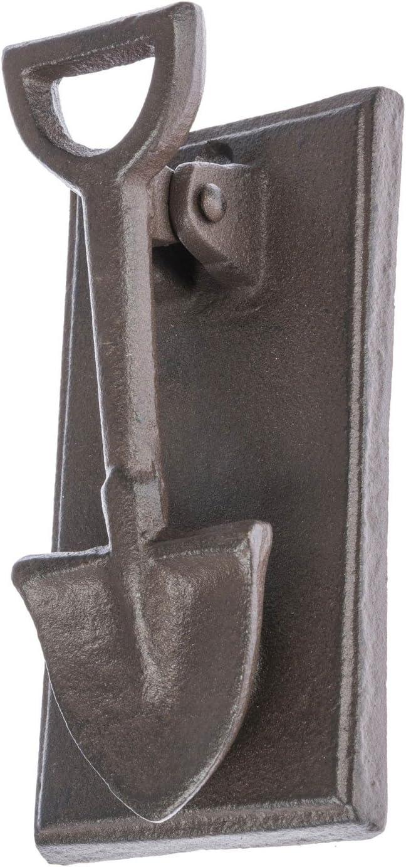 HOMESCAPES Forme Pelle Heurtoir de Porte en Fonte Style Ancien
