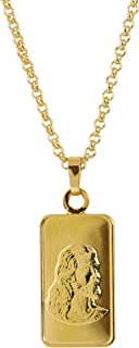 product image for American Coin Treasures Jesus Ingot Coin Pendant Layered in 24 KT Gold