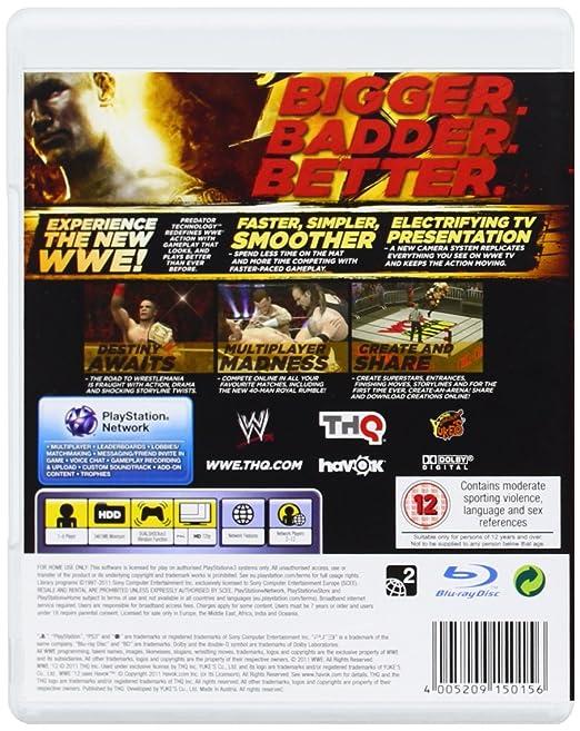 WWE '12 (PS3): Amazon co uk: PC & Video Games