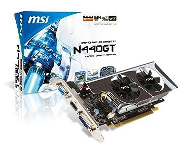 MSI N440GT-MD1GD3/LP GeForce GT 440 1GB GDDR3 - Tarjeta gráfica ...