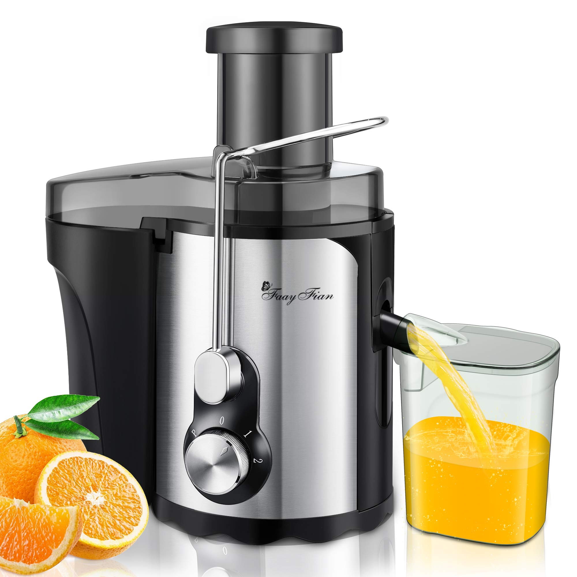 Juicer Machines Vegetable and Fruit Small Compact 600W Centrifugal juicer Quick Extract
