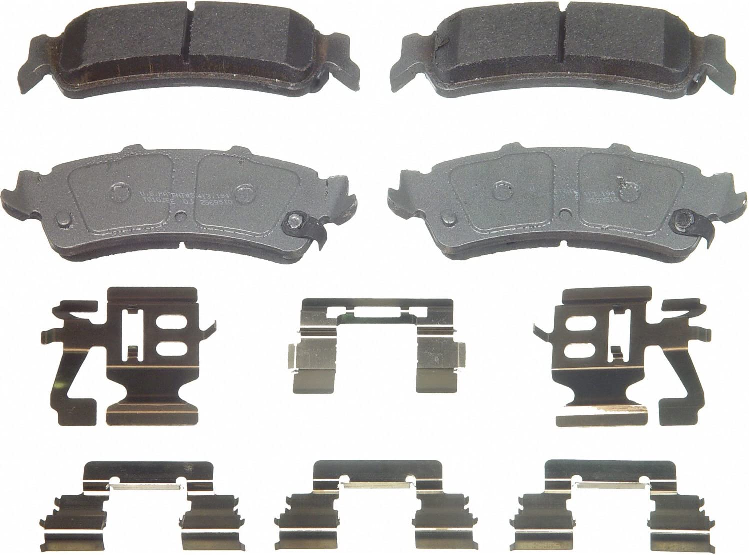Disc Brake Pad Set-ThermoQuiet Disc Brake Pad Rear Wagner QC792A