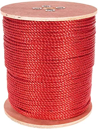 "Black 1200 ft Twisted Polypropylene Rope  5//16/"""