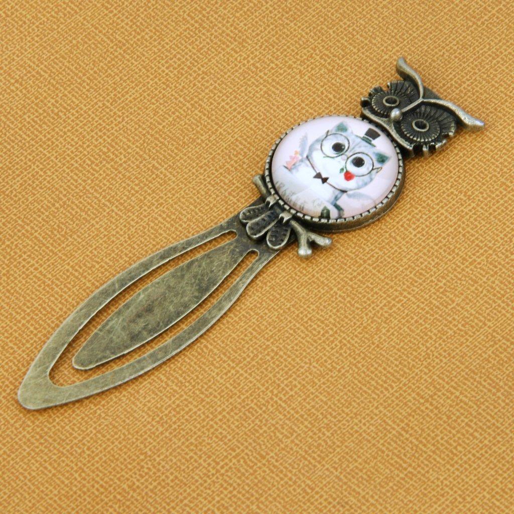 Antico Stile Mr Clip In Metallo Del Modello Del Gatto Marcatore Segnalibro Regalo A Leggere