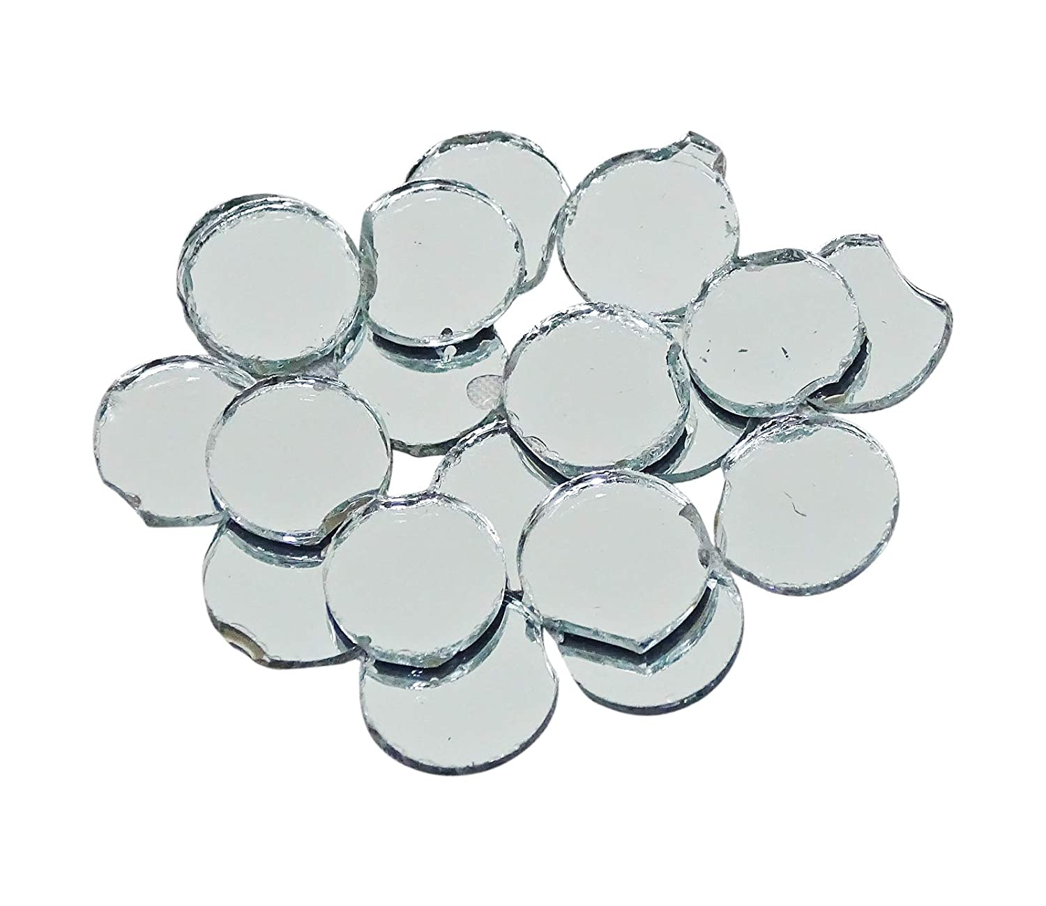 200 Pcs Mini Round Small Glass Mirror Circles for Arts & Crafts Projects, Framing, Decoration Reflecting Mirror PEEGLI MR03