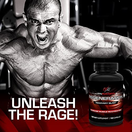 ENRAGED NUTRITION REGENERATION Muscle Rejuvenation Deep Recovery Blast BCAA Supplement Muscle Support Sports Nutrition
